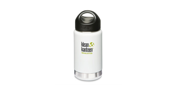 Klean Kanteen Wide Insulated Termoflaske med Loop Cap 355ml hvid